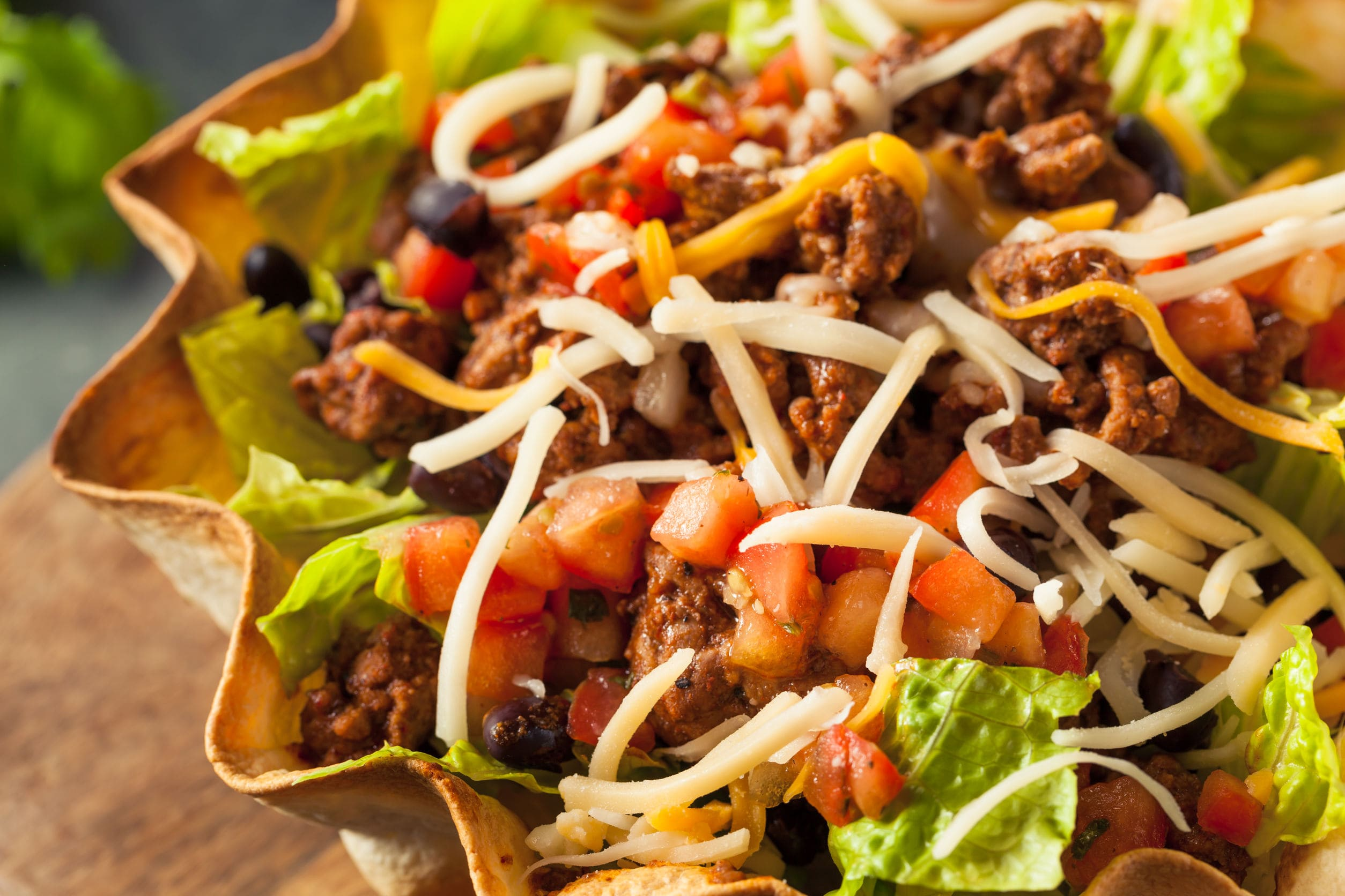 taco salad mexican cheese texmex
